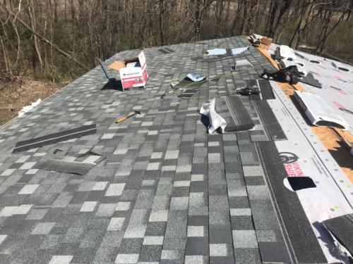IKO castle gray roofing shingles